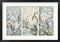 Framed Triptych in Bloom