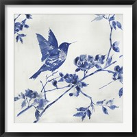 Framed Porcelain Hummingbird