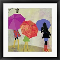 Framed Umbrella Girls