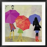 Framed Umbrella Girls