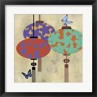 Framed Butterfly Lanterns