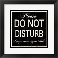 Framed Do Not Disturb
