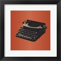 Framed MCM Typewriter