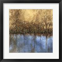 Framed Indigo Landscape