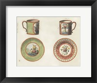 Framed Cups & Saucers