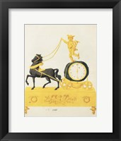 Framed Cherub Clock