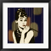 Framed Pixeled Hepburn