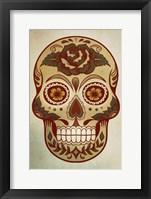 Framed Day of the Dead Skull I