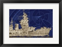 Blueprint Submarine I Framed Print