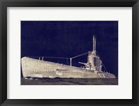 Framed Blueprint Submarine II
