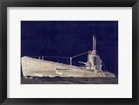 Blueprint Submarine II Framed Print