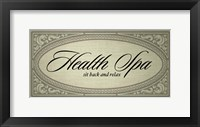 Framed Health Spa Sit Back and Relax