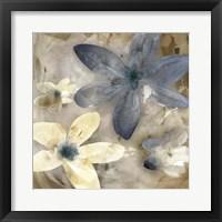 Framed Ink Drip Floral II