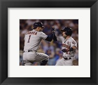 Framed Carlos Correa & Jose Altuve Home Run celebration Game 2 of the 2017 World Series