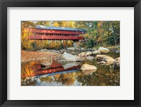 Framed Swift River Covered Bridge