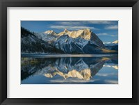 Framed Kananaskis Lake Reflection
