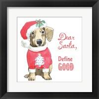 Framed Glamour Pups Christmas III Dear Santa