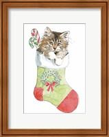 Framed Christmas Kitties IV