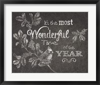 Framed Chalkboard Christmas Sayings VI