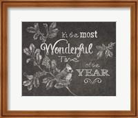 Framed Chalkboard Christmas Sayings VI