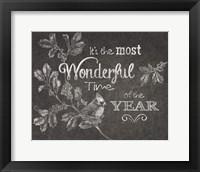 Chalkboard Christmas Sayings VI Framed Print