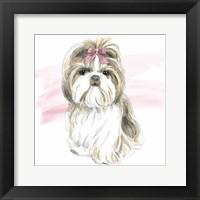 Framed Glamour Pups VIII