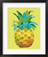 Framed Island Time Pineapples IV