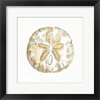 Golden Treasures VII on White Framed Print