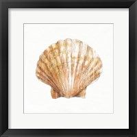 Golden Treasures VIII on White Framed Print
