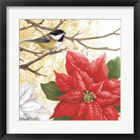 Framed Winter Birds Chicadee Collage