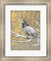 Framed Winter Birds Cardinal Neutral