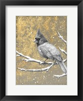 Framed Winter Birds Cardinal Neutral