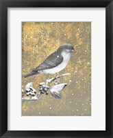 Framed Winter Birds Bluebird Neutral