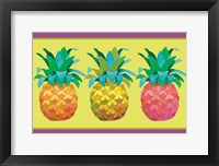 Framed Island Time Pineapples I