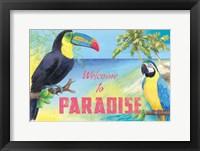 Framed Island Time Toucan