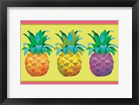 Framed Island Time Pineapples