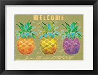 Framed Island Time Pineapples Welcome