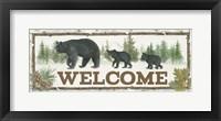 Framed Family Cabin Welcome