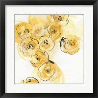 Framed Yellow Roses Anew I B
