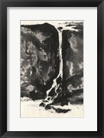 Framed Sumi Waterfall View II