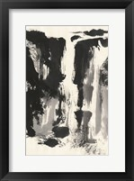Framed Sumi Waterfall View IV