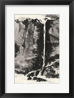 Framed Sumi Waterfall View III