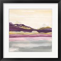 Framed Purple Rock Dawn II Gold