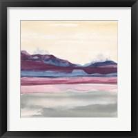 Framed Purple Rock Dawn II
