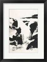 Framed Sumi Waterfall VI