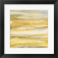 Framed Grey and Gold