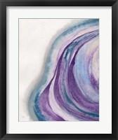 Framed Watercolor Geode I
