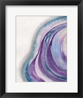 Framed Watercolor Geode I