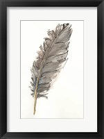 Framed Gold Feathers VII