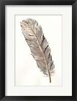 Framed Gold Feathers V